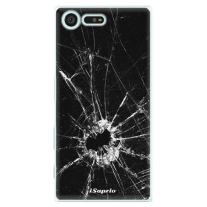 Plastové pouzdro iSaprio Broken Glass 10 na mobil Sony Xperia X Compact