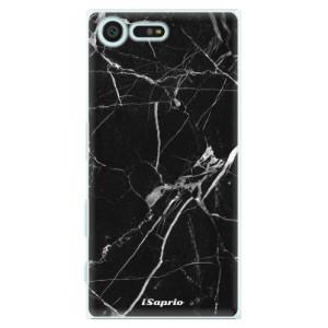 Plastové pouzdro iSaprio black Marble 18 na mobil Sony Xperia X Compact