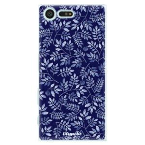 Plastové pouzdro iSaprio Blue Leaves 05 na mobil Sony Xperia X Compact
