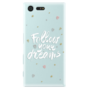 Plastové pouzdro iSaprio Follow Your Dreams bílý na mobil Sony Xperia X Compact
