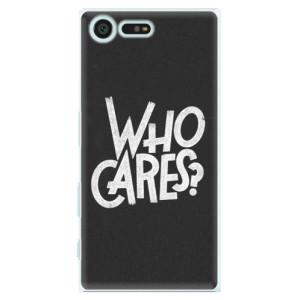 Plastové pouzdro iSaprio Who Cares na mobil Sony Xperia X Compact