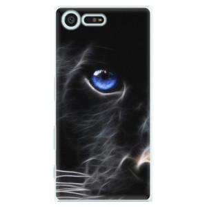 Plastové pouzdro iSaprio black Puma na mobil Sony Xperia X Compact