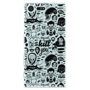 Plastové pouzdro iSaprio Komiks 01 black na mobil Sony Xperia X Compact