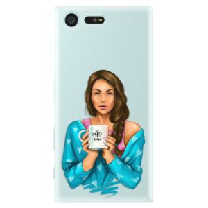 Plastové pouzdro iSaprio Coffee Now Brunetka na mobil Sony Xperia X Compact