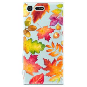 Plastové pouzdro iSaprio Autumn Leaves 01 na mobil Sony Xperia X Compact