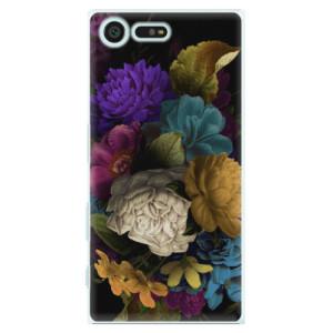 Plastové pouzdro iSaprio Temné Květy na mobil Sony Xperia X Compact