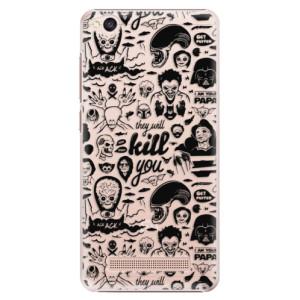 Plastové pouzdro iSaprio Komiks 01 black na mobil Xiaomi Redmi 4A