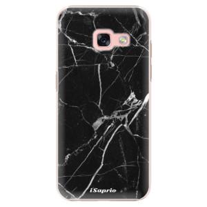Plastové pouzdro iSaprio black Marble 18 na mobil Samsung Galaxy A3 2017