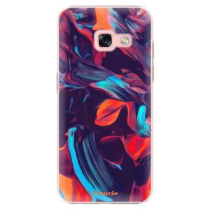 Plastové pouzdro iSaprio Barevný mramor 19 na mobil Samsung Galaxy A3 2017