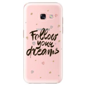 Plastové pouzdro iSaprio Follow Your Dreams černý na mobil Samsung Galaxy A3 2017