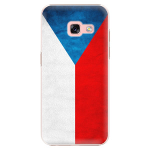 Plastové pouzdro iSaprio Česká Vlajka na mobil Samsung Galaxy A3 2017