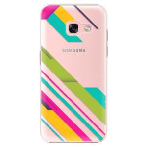 Plastové pouzdro iSaprio Barevné Pruhy 03 na mobil Samsung Galaxy A3 2017