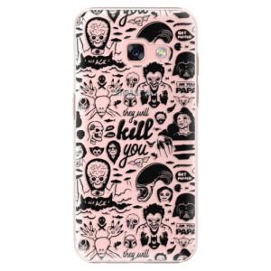 Plastové pouzdro iSaprio Komiks 01 black na mobil Samsung Galaxy A3 2017