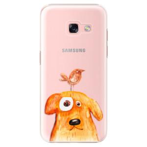 Plastové pouzdro iSaprio Pejsek a Ptáček na mobil Samsung Galaxy A3 2017
