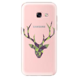 Plastové pouzdro iSaprio Zelený Jelínek na mobil Samsung Galaxy A3 2017
