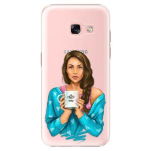 Plastové pouzdro iSaprio Coffee Now Brunetka na mobil Samsung Galaxy A3 2017