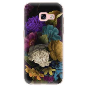 Plastové pouzdro iSaprio Temné Květy na mobil Samsung Galaxy A3 2017