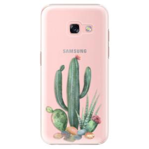 Plastové pouzdro iSaprio Kaktusy 02 na mobil Samsung Galaxy A3 2017