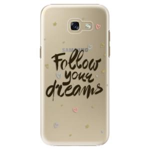 Plastové pouzdro iSaprio Follow Your Dreams černý na mobil Samsung Galaxy A5 2017
