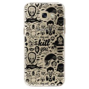 Plastové pouzdro iSaprio Komiks 01 black na mobil Samsung Galaxy A5 2017
