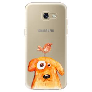 Plastové pouzdro iSaprio Pejsek a Ptáček na mobil Samsung Galaxy A5 2017