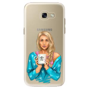 Plastové pouzdro iSaprio Coffee Now Blondýna na mobil Samsung Galaxy A5 2017