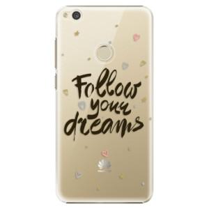 Plastové pouzdro iSaprio Follow Your Dreams černý na mobil Huawei P9 Lite 2017