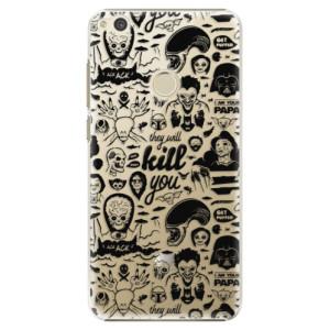 Plastové pouzdro iSaprio Komiks 01 black na mobil Huawei P9 Lite 2017