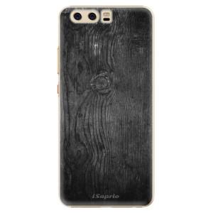 Plastové pouzdro iSaprio black Wood 13 na mobil Huawei P10