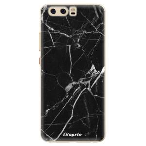 Plastové pouzdro iSaprio black Marble 18 na mobil Huawei P10