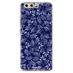 Plastové pouzdro iSaprio Blue Leaves 05 na mobil Huawei P10