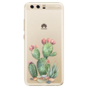Plastové pouzdro iSaprio Kaktusy 01 na mobil Huawei P10
