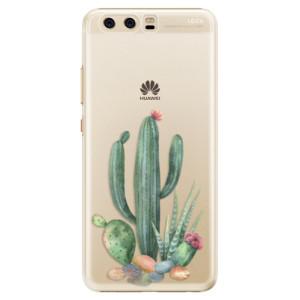 Plastové pouzdro iSaprio Kaktusy 02 na mobil Huawei P10