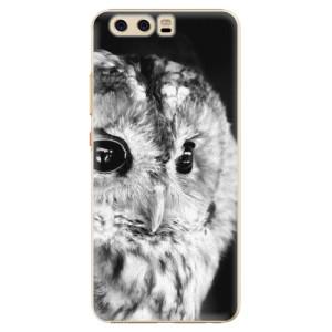 Plastové pouzdro iSaprio BW Sova na mobil Huawei P10