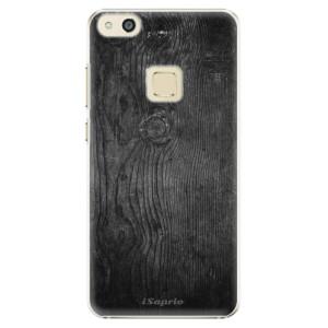 Plastové pouzdro iSaprio black Wood 13 na mobil Huawei P10 Lite