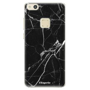 Plastové pouzdro iSaprio black Marble 18 na mobil Huawei P10 Lite