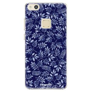 Plastové pouzdro iSaprio Blue Leaves 05 na mobil Huawei P10 Lite