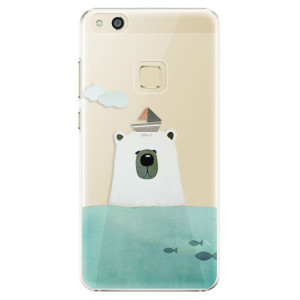 Plastové pouzdro iSaprio Bear With Boat na mobil Huawei P10 Lite