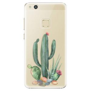 Plastové pouzdro iSaprio Kaktusy 02 na mobil Huawei P10 Lite