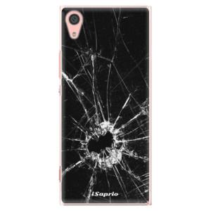 Plastové pouzdro iSaprio Broken Glass 10 na mobil Sony Xperia XA1