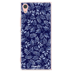 Plastové pouzdro iSaprio Blue Leaves 05 na mobil Sony Xperia XA1