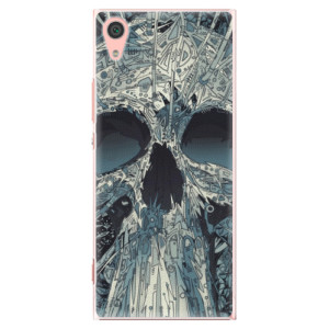Plastové pouzdro iSaprio Abstract Skull na mobil Sony Xperia XA1