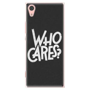 Plastové pouzdro iSaprio Who Cares na mobil Sony Xperia XA1