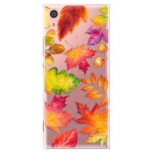Plastové pouzdro iSaprio Autumn Leaves 01 na mobil Sony Xperia XA1