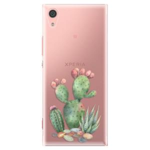 Plastové pouzdro iSaprio Kaktusy 01 na mobil Sony Xperia XA1