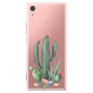 Plastové pouzdro iSaprio Kaktusy 02 na mobil Sony Xperia XA1