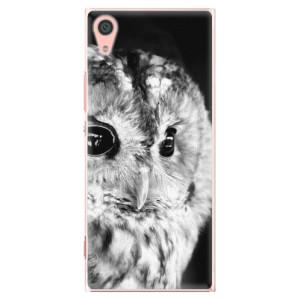Plastové pouzdro iSaprio BW Sova na mobil Sony Xperia XA1