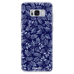 Plastové pouzdro iSaprio Blue Leaves 05 na mobil Samsung Galaxy S8
