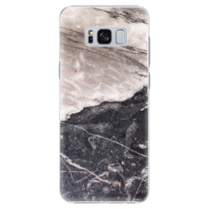 Plastové pouzdro iSaprio BW Mramor na mobil Samsung Galaxy S8