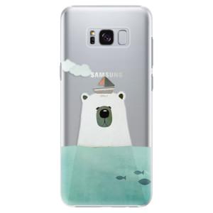 Plastové pouzdro iSaprio Bear With Boat na mobil Samsung Galaxy S8